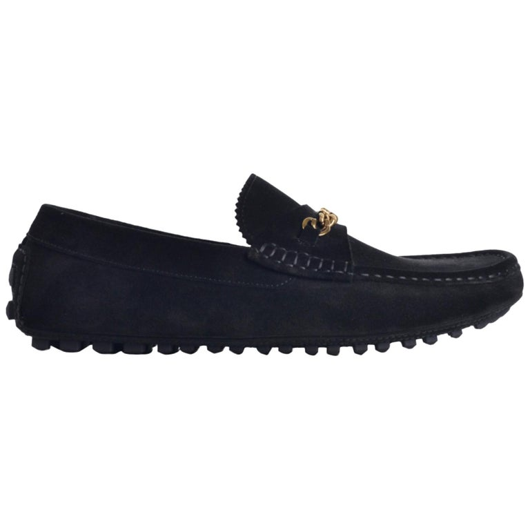 f60f3f45fc0 Tom Ford Mens Black Suede York Chain Drivers Loafers For Sale at 1stdibs