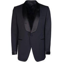 Tom Ford Men's Black Wool Satin Lapel O'Connor Two Piece Suit