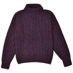Tom Ford Mens Cashmere Maroon Rib Knit Turtleneck Sweater Sz IT46/US36~RTL $1450
