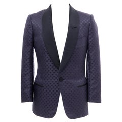 Tom Ford Men's Runway Navy Blue Silk Linen Dinner Jacket, Spring 2012