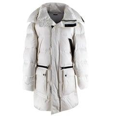 Tom Ford Men's White Oversized Puffer Jacket 44