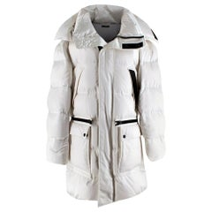 Tom Ford Men's White Oversized Puffer Jacket - Size Small IT 44