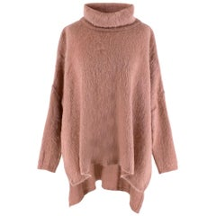 Tom Ford Mohair Blend Pink Roll Neck Jumper M