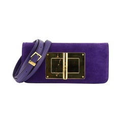 Tom Ford Natalia Convertible Clutch Suede East West