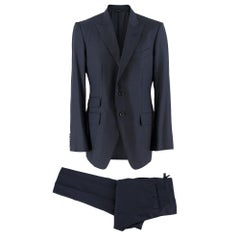 Tom Ford Navy Blue Wool Single Breasted Suit SIZE 50