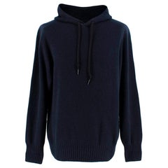 Tom Ford Navy Cashmere Hooded Sweater  L  50