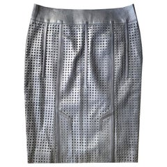 Tom Ford Perforated Leather Mini Skirt