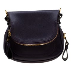 Tom Ford Purple Leather Jennifer Crossbody Bag