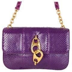 TOM FORD purple PYTHON CARINE Shoulder Bag