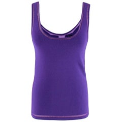 Tom Ford Purple Tank Top with Sheer Detail M