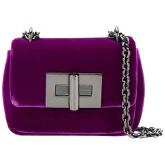 Tom Ford Purple Velvet Fabric Mini Natalia Italy