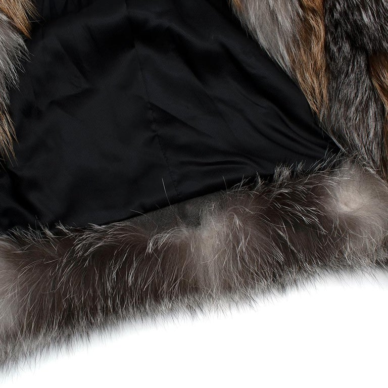 Tom Ford Red & Grey Fox Fur Leather Trimmed Jacket 36 For Sale 4
