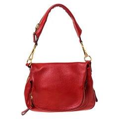 Tom Ford Red Leather Jennifer Shoulder Bag