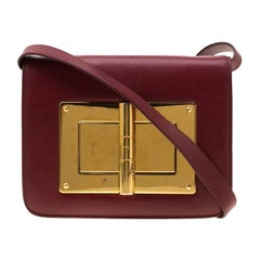 Tom Ford Red Leather Small Natalia Crossbody Bag