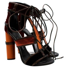 Tom Ford Red & Orange Strap Lace-up sandals - Size 38