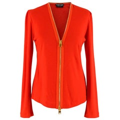 Tom Ford Red Zip Around Cardigan SIZE 36 FR