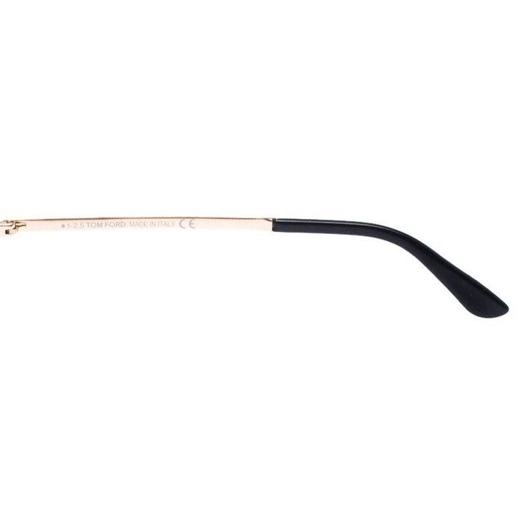 Tom Ford Rose Gold/Green Gradient Marko TF144 Aviator Sunglasses For Sale 2