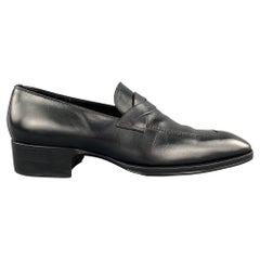 TOM FORD Shoes - Size 12 Black Solid Leather Slip On Loafers