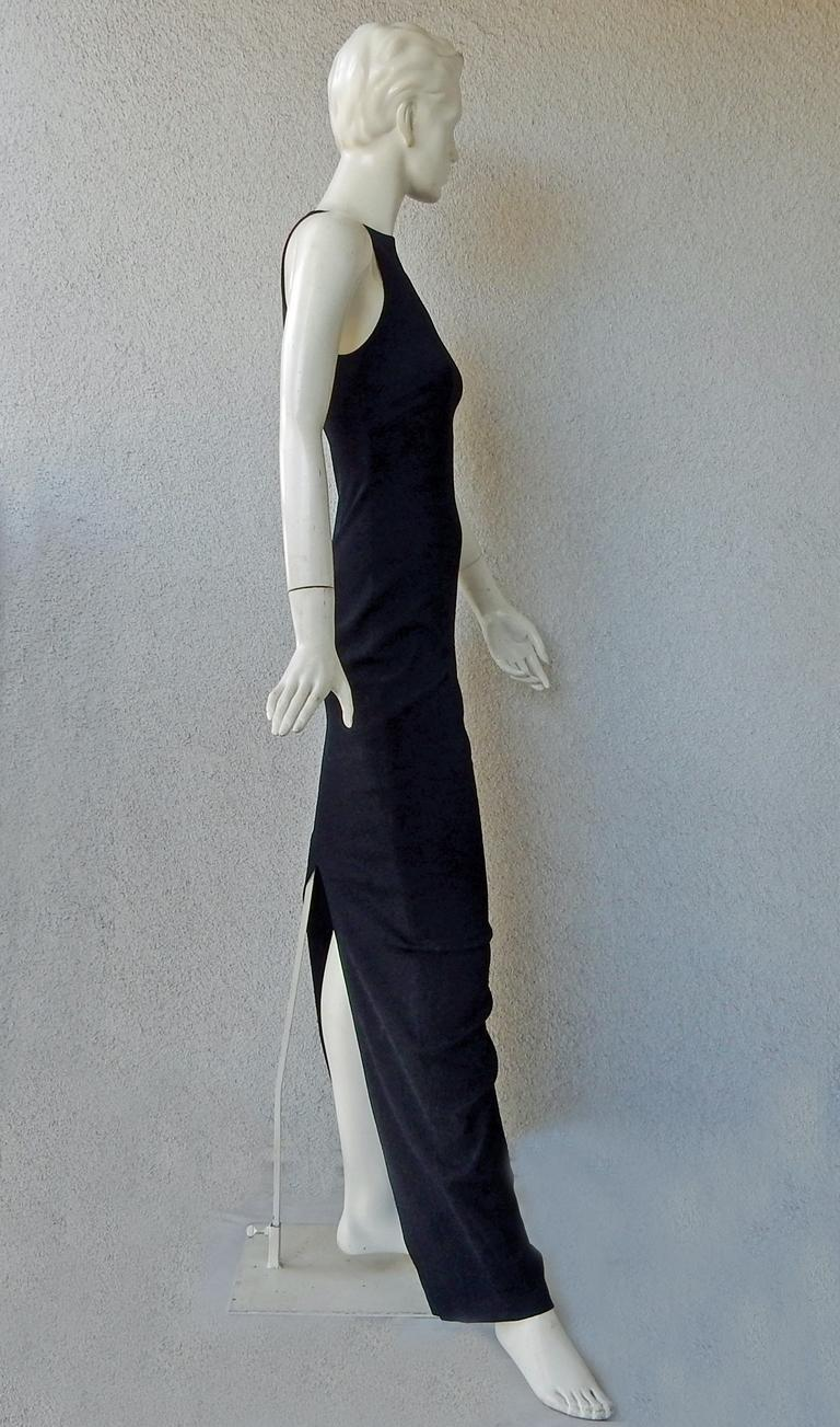 Tom Ford Signature Black Body Hugging Gown with Cape  New! For Sale 2