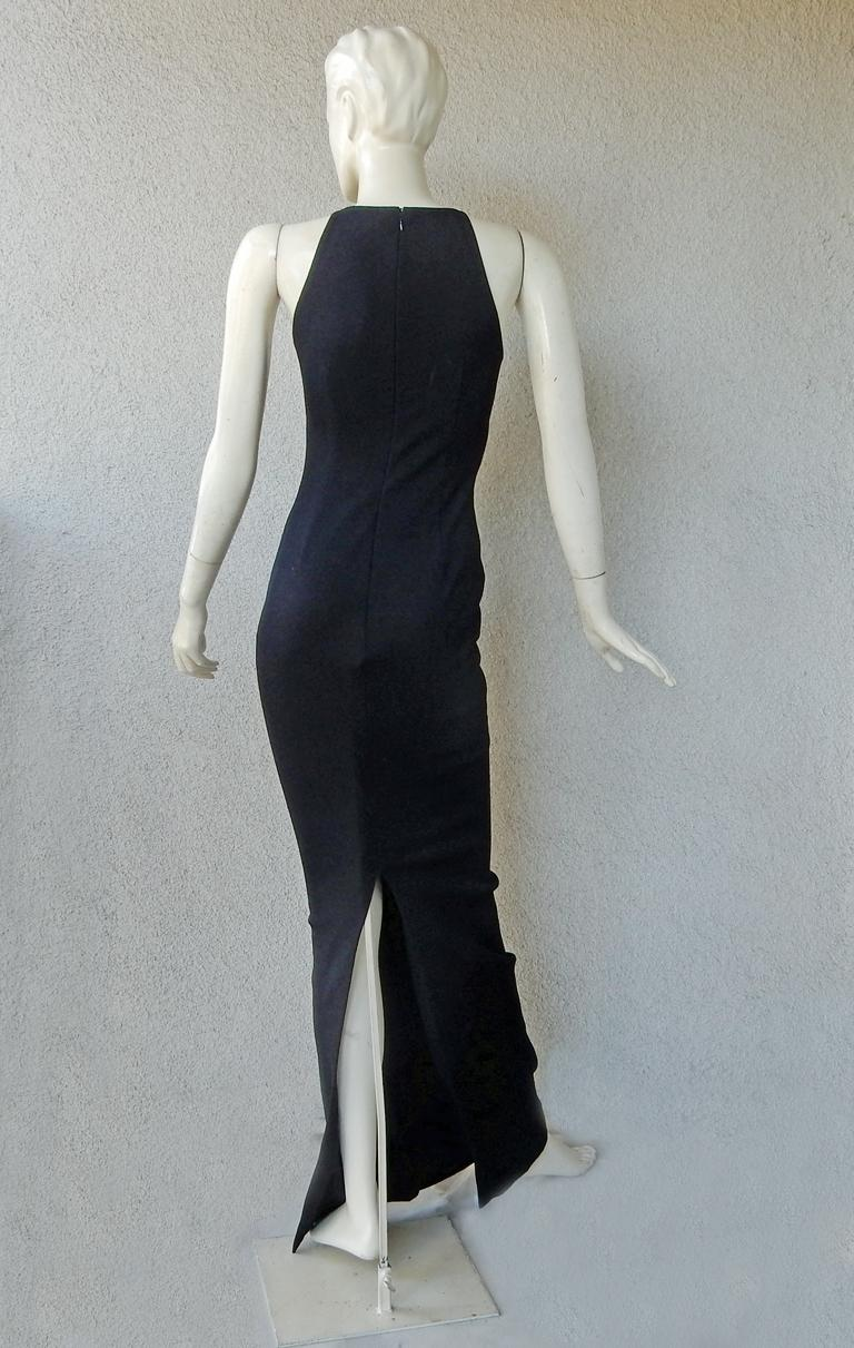 Tom Ford Signature Black Body Hugging Gown with Cape  New! For Sale 3
