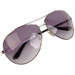 Tom Ford Silver Metal Aviator Charles TF 35 753 62/12 Sunglasses