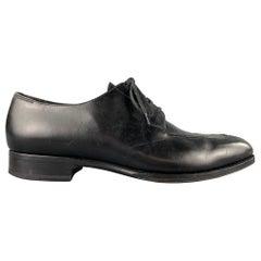 TOM FORD Size 11 Black Leather Split Toe Blucher Lace Up Shoes