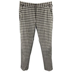 TOM FORD Size 30 Black & Grey Checkered Wool Zip Fly Dress Pants