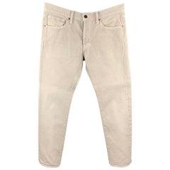 TOM FORD Size 31 Khaki Cotton Jean Cut Casual Pants