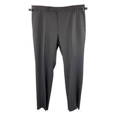 TOM FORD Size 40 Navy Wool Side Tab Dress Pants