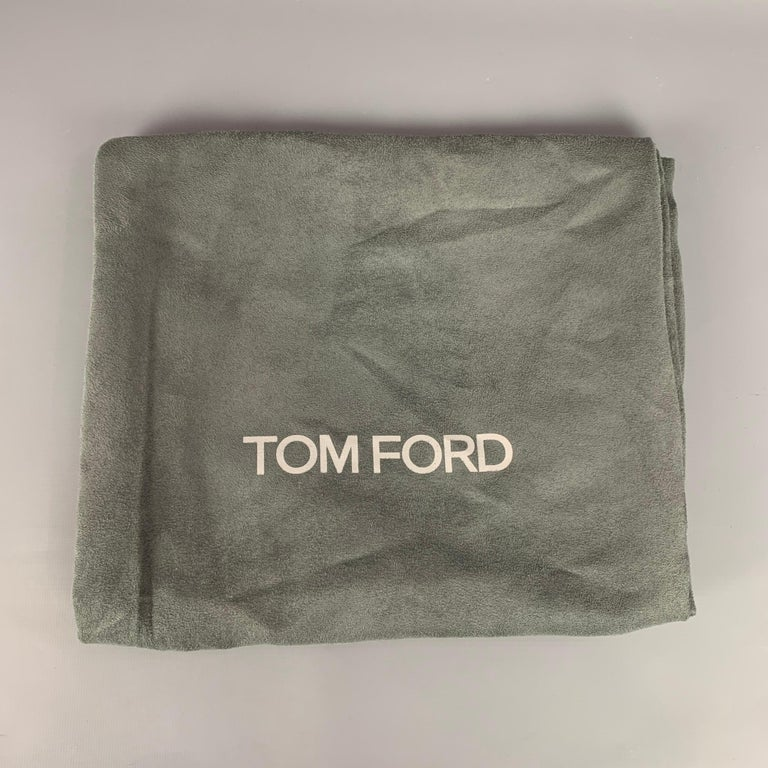 TOM FORD Size 7.5 Black Patent Leather Scrunched 105mm Boots For Sale 3