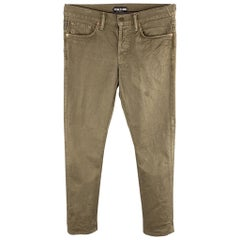 TOM FORD Size US 30 Brown Cotton Button Fly Casual Pants
