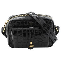 Tom Ford T Twist Camera Bag Crocodile Embossed Leather