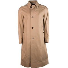 Tom Ford Tan Brown 100% Cotton Adjustable Belt Back Trench Coat