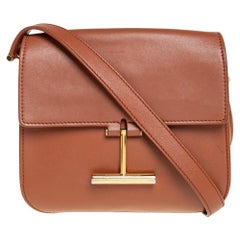 Tom Ford Tan Leather Mini Tara Crossbody Bag
