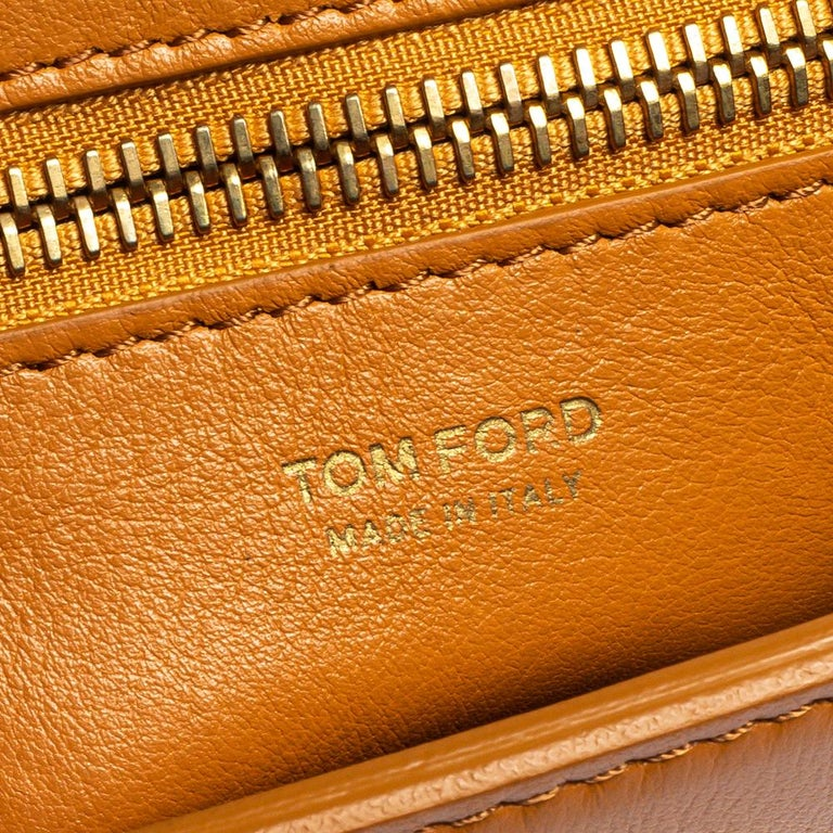 Tom Ford Tan Leather Natalia Shoulder Bag For Sale 5