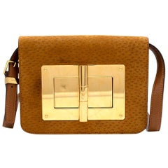 Tom Ford Tan Textured Suede Natalia Bag