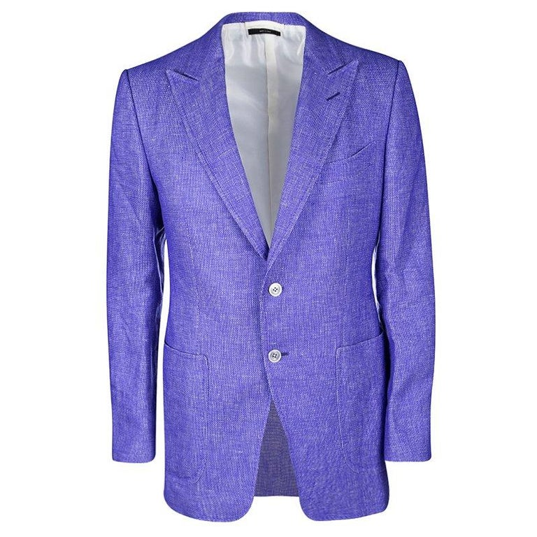 2fc9e930c8711b Tom Ford Two Tone Linen Regular Fit Blazer L For Sale at 1stdibs