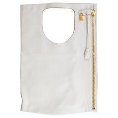 TOM FORD white leather ALIX FOLD-OVER Shoulder Bag