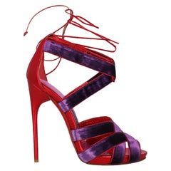 Tom Ford  Women   Sandals  Purple, Red Leather EU 40