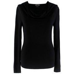 Tom Ford Women's Black Draped Sweater XXS