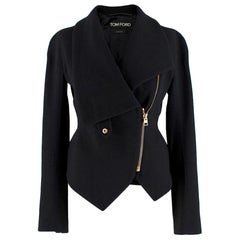 Tom Ford Wool Blend Asymmetric Jacket 38