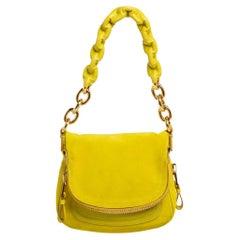 Tom Ford Yellow Suede Jennifer Shoulder Bag