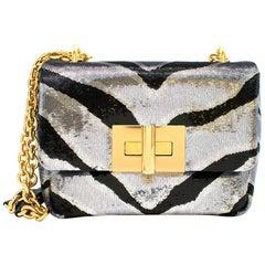 Tom Ford Zebra Sequin Natalia Shoulder Bag 21cm