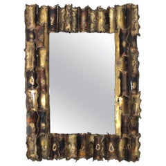 Tom Greene Custom Made Brutalist Mirror