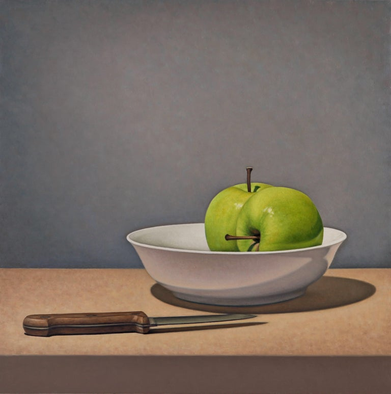 Tom Gregg Still-Life Painting - Apples and Knife