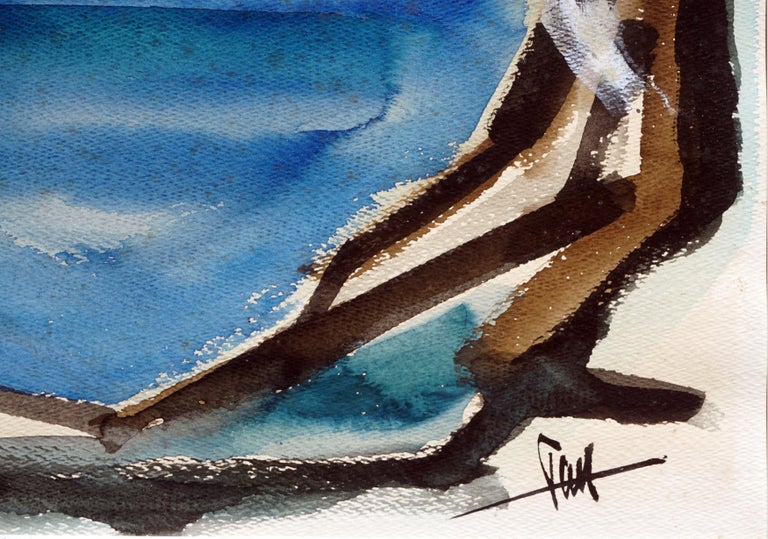 Carmel-by-the-Sea Abstracted Landscape - Abstract Expressionist Painting by Tom Hamil