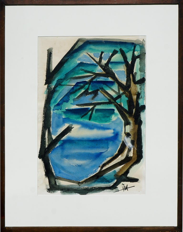 Tom Hamil Landscape Painting - Carmel-by-the-Sea Abstracted Landscape