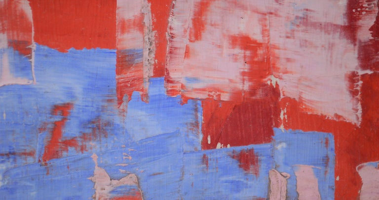 Out of the Blue Abstract  - Painting by Tom Hamil