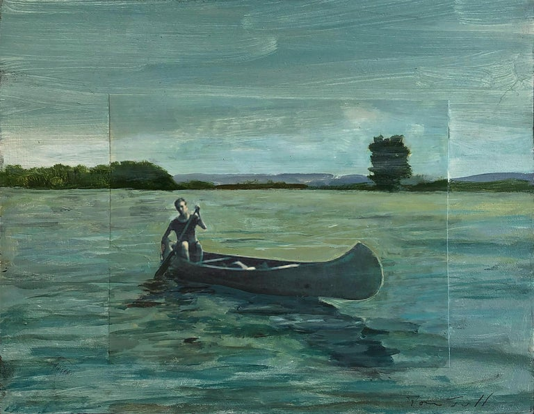 Tom Judd Figurative Painting - Canoe #2
