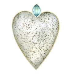 Tom & Jutta Munsteiner, Aquamarine and Agate Heart Necklace